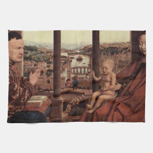 Arte de enero Ven Eyck Toalla De Mano
