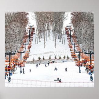 Arte de esquí de la pared de los deportes de invie impresiones