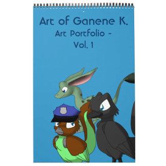 Arte de Ganene K. Art Portfolio - vol. 1 Calendario De Pared