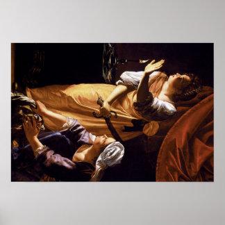 Arte de Gentileschi de la artemisia Posters