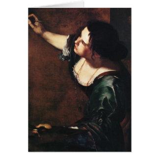 Arte de Gentileschi de la artemisia Tarjeta De Felicitación