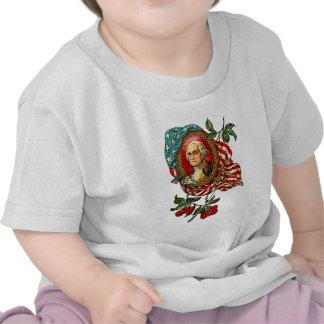 Arte de George Washington del vintage en las Camisetas