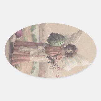 Arte de Gifting del ángel de Pascua de la Colcomanias Ovaladas Personalizadas