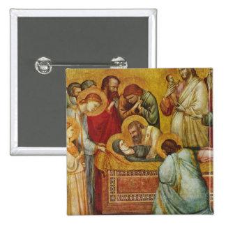 Arte de Giotto Pin Cuadrado