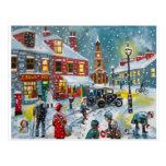 Arte de Gordon Bruce de la nieve del invierno de Postal