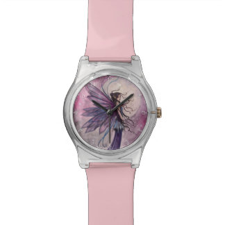Arte de hadas Amethyst iluminado de la fantasía Relojes De Mano
