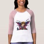 Arte de hadas de la fantasía de la biblioteca del  camisetas