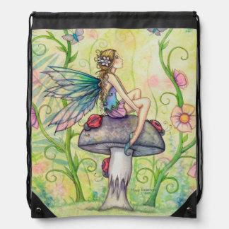 Arte de hadas de la fantasía de la flor de la mari mochilas