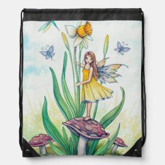 Arte de hadas de la fantasía de la flor del narcis mochilas