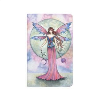 Arte de hadas de la fantasía de la joya de Luna Cuaderno Grapado