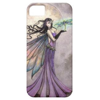 Arte de hadas de la fantasía de la libélula de la funda para iPhone SE/5/5s