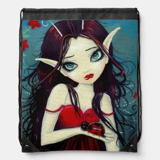 Arte de hadas de la fantasía de la mariquita mochilas
