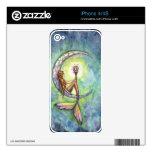 Arte de hadas de la fantasía de la sirena por Moll Skin Para El iPhone 4S