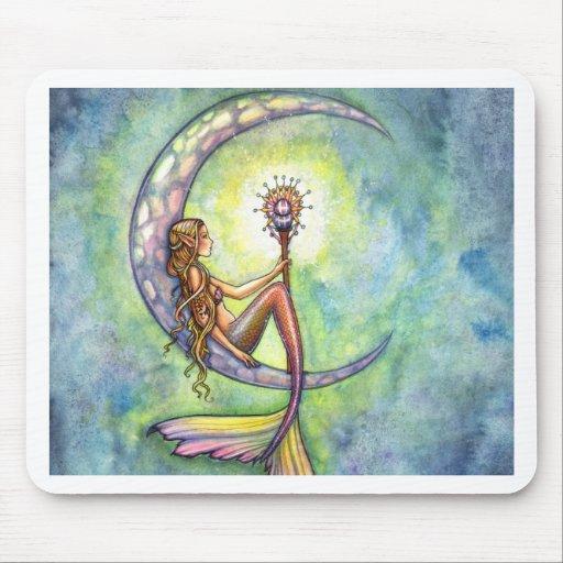 Arte de hadas de la fantasía de la sirena por Moll Tapete De Ratones