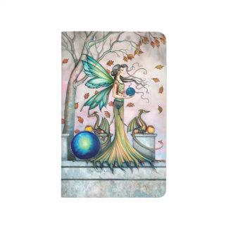 Arte de hadas de la fantasía de las hojas de otoño cuaderno grapado