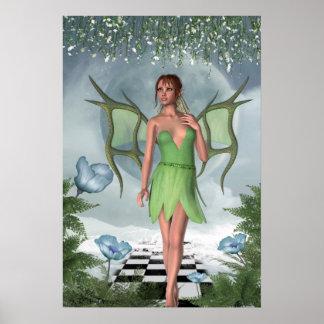 Arte de hadas de la fantasía de los sueños ilumina poster