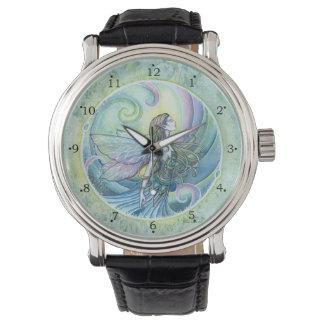 Arte de hadas de la fantasía del elemento del agua reloj de mano