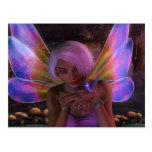Arte de hadas de la fantasía del guarda del colibr tarjetas postales