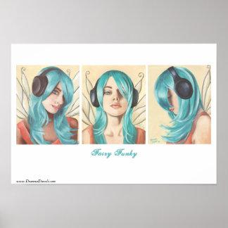 Arte de hadas de la hada del auricular del poster