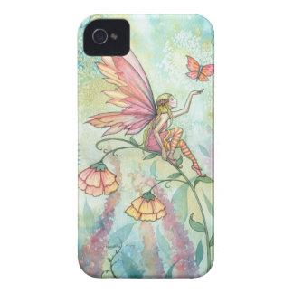 Arte de hadas de la mariposa de la fantasía de la iPhone 4 cárcasas