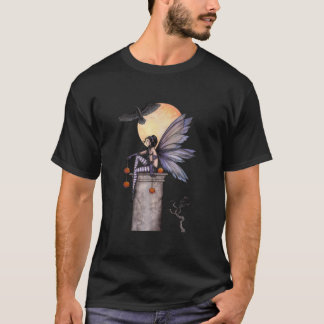 Arte de hadas gótico de la fantasía del cuervo del playera