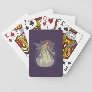 Arte de hadas mágico de la fantasía del resplandor cartas de póquer