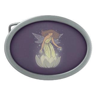 Arte de hadas mágico de la fantasía del resplandor hebillas cinturon ovales