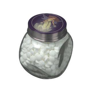 Arte de hadas mágico de la fantasía del resplandor jarras de cristal jelly bely