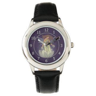 Arte de hadas mágico de la fantasía del resplandor reloj