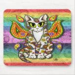 Arte de hadas Mousepad de la fantasía del gato de  Alfombrilla De Raton