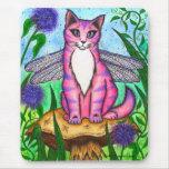 Arte de hadas Mousepad de la fantasía del gato de Alfombrillas De Ratones