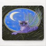 Arte de hadas Mousepad del gato de la fantasía del Tapetes De Ratón