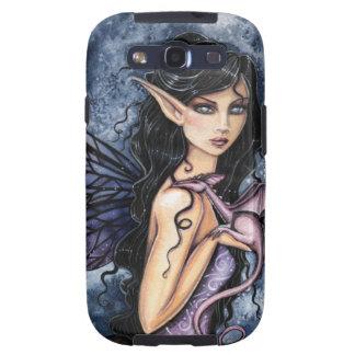 Arte de hadas púrpura de la fantasía del dragón Am Galaxy S3 Fundas
