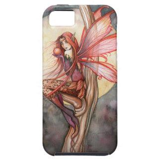 Arte de hadas rojo de la fantasía del otoño por iPhone 5 fundas