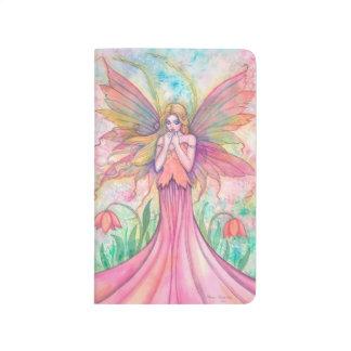 Arte de hadas rosado de la fantasía del Wildflower Cuaderno Grapado