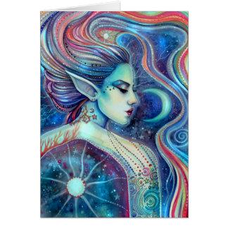 Arte de hadas surrealista de la fantasía de tarjeta de felicitación