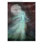 Arte de Halloween de la fantasía del fantasma de l Tarjeton