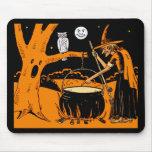 Arte de Halloween del vintage Alfombrillas De Raton