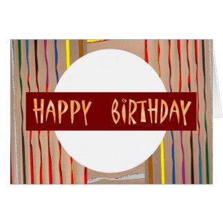 Arte de HappyBirthday del FELIZ cumpleaños Tarjeta De Felicitación