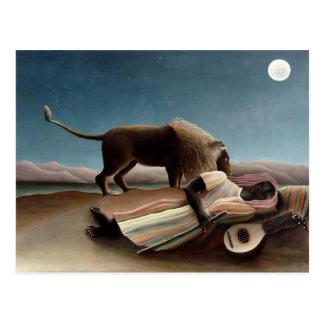 Arte de Henri Rousseau: Gitano durmiente Postal