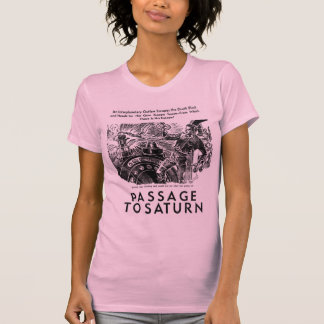 "Arte de historia retro de Sci Fi ""paso a Saturn"" Playera"