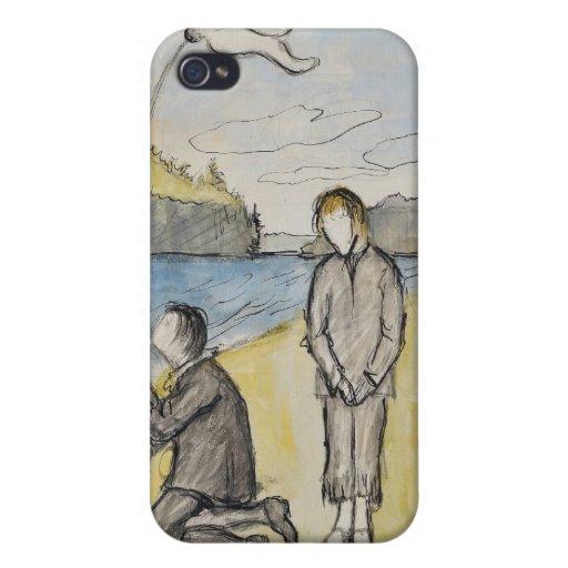 Arte de Hugo Simberg iPhone 4 Fundas