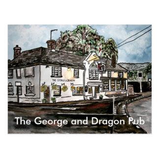 arte de Inglaterra del restaurante del pub de Geor Tarjetas Postales