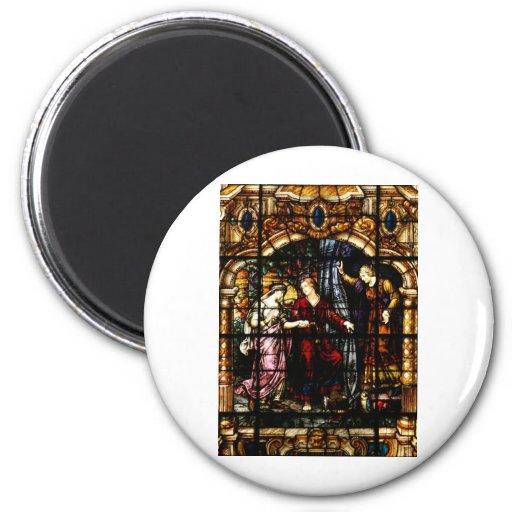 Arte de Isaac y del vitral de Rebekah Imán Redondo 5 Cm
