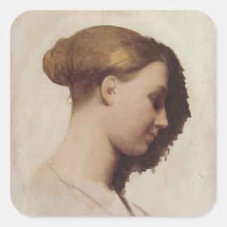 Arte de Jean Auguste Ingres Pegatina Cuadrada