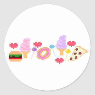 Arte de Junk Food del pixel Pegatina