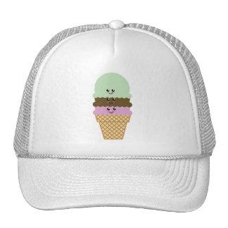 Arte de Kawaii del cono de helado Gorro De Camionero