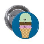 Arte de Kawaii del cono de helado Pin