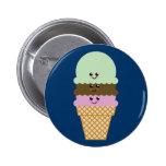 Arte de Kawaii del cono de helado Pins