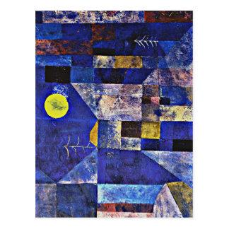 Arte de Klee - claro de luna Tarjetas Postales